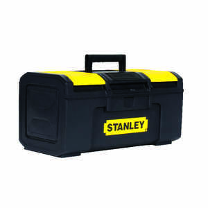 Stanley  15.5 in. Plastic  Tool Box  8.8 in. W x 6 in. H Yellow/Black