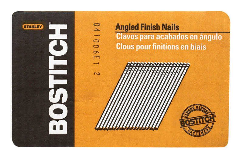 Bostitch  15 Ga. Smooth Shank  Angled Strip  Finish Nails  1-1/4 in. L x 0.12 in. Dia. 3655 pk
