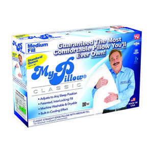 My Pillow  As Seen On TV  Medium Fill Queen  Pillow  Foam/Gel  1 pk