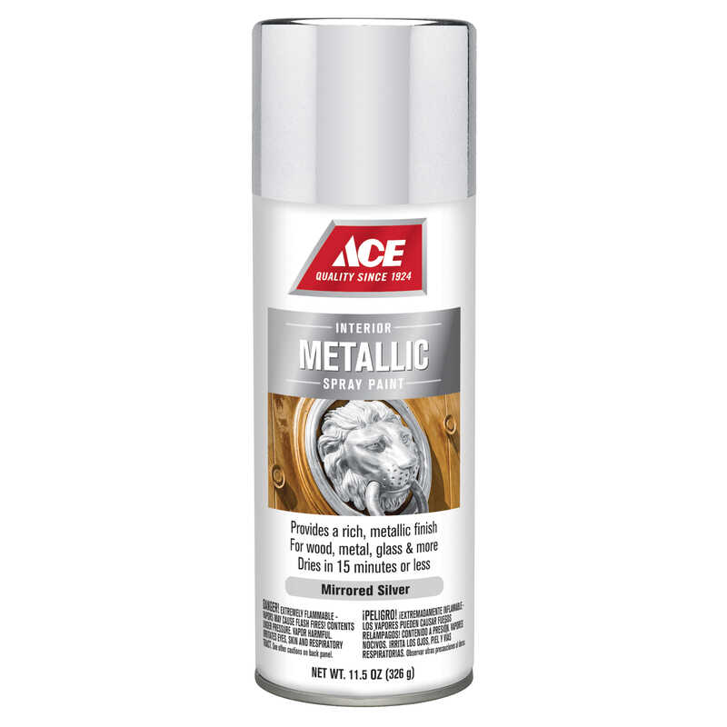 Ace  Brilliant  Silver  Spray Paint  11.5 oz.