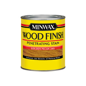 Minwax  Wood Finish  Semi-Transparent  Golden Pecan  Oil-Based  Wood Stain  1 qt.