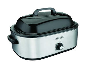Proctor Silex  Polished Chrome  Black  Aluminized Steel  18 qt. Roaster Oven  9.8 in. H x 17.4 in. W