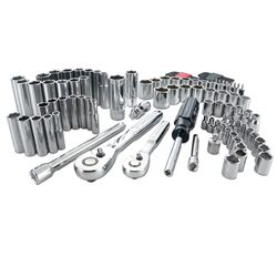 Craftsman 1/4 and 3/8 in. drive Metric and SAE 6 Point Mechanic's Tool Set 105 pc.