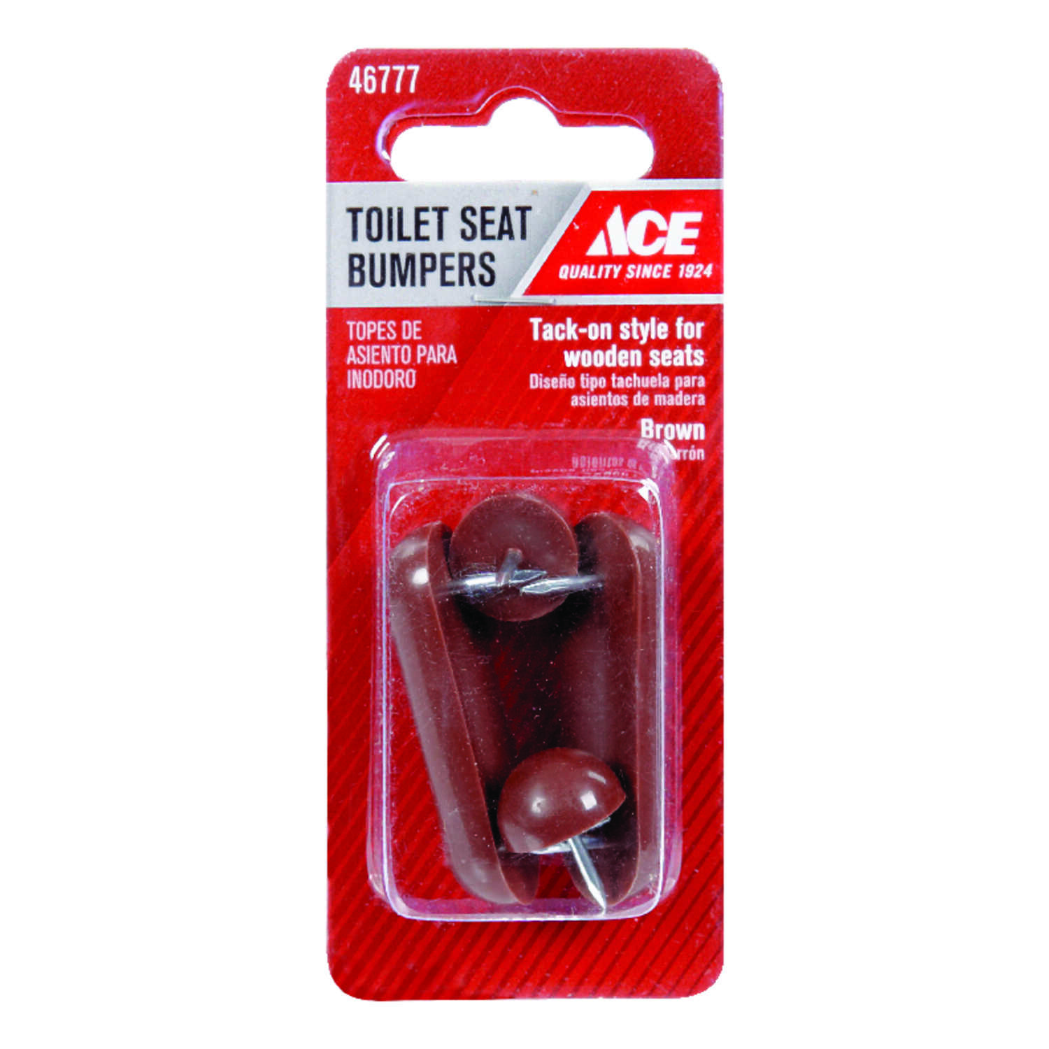 Ace  Toilet Seat Bumper Kit  0.625 in. H Plastic