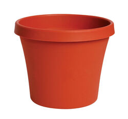 Bloem  Terra  7 in. H x 8 in. Dia. Plastic  Traditional  Planter  Terracotta