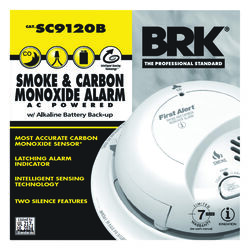 BRK Hard-Wired w/Battery Back-up Electrochemical/Ionization Smoke and Carbon Monoxide Detector