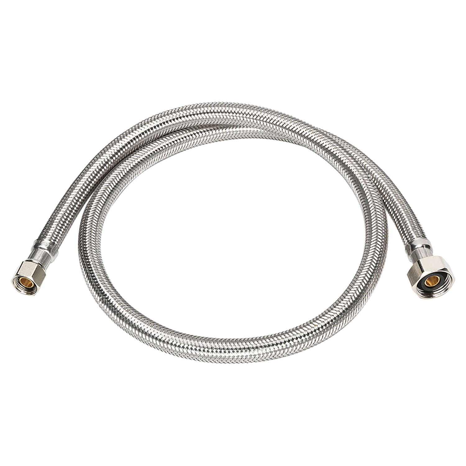 Ace  3/8 in. Compression   x 1/2 in. Dia. FIP  Stainless Steel  48 in. Supply Line