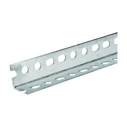 SteelWorks 1-1/2 in. W x 72 in. L Zinc Plated Steel Slotted Angle