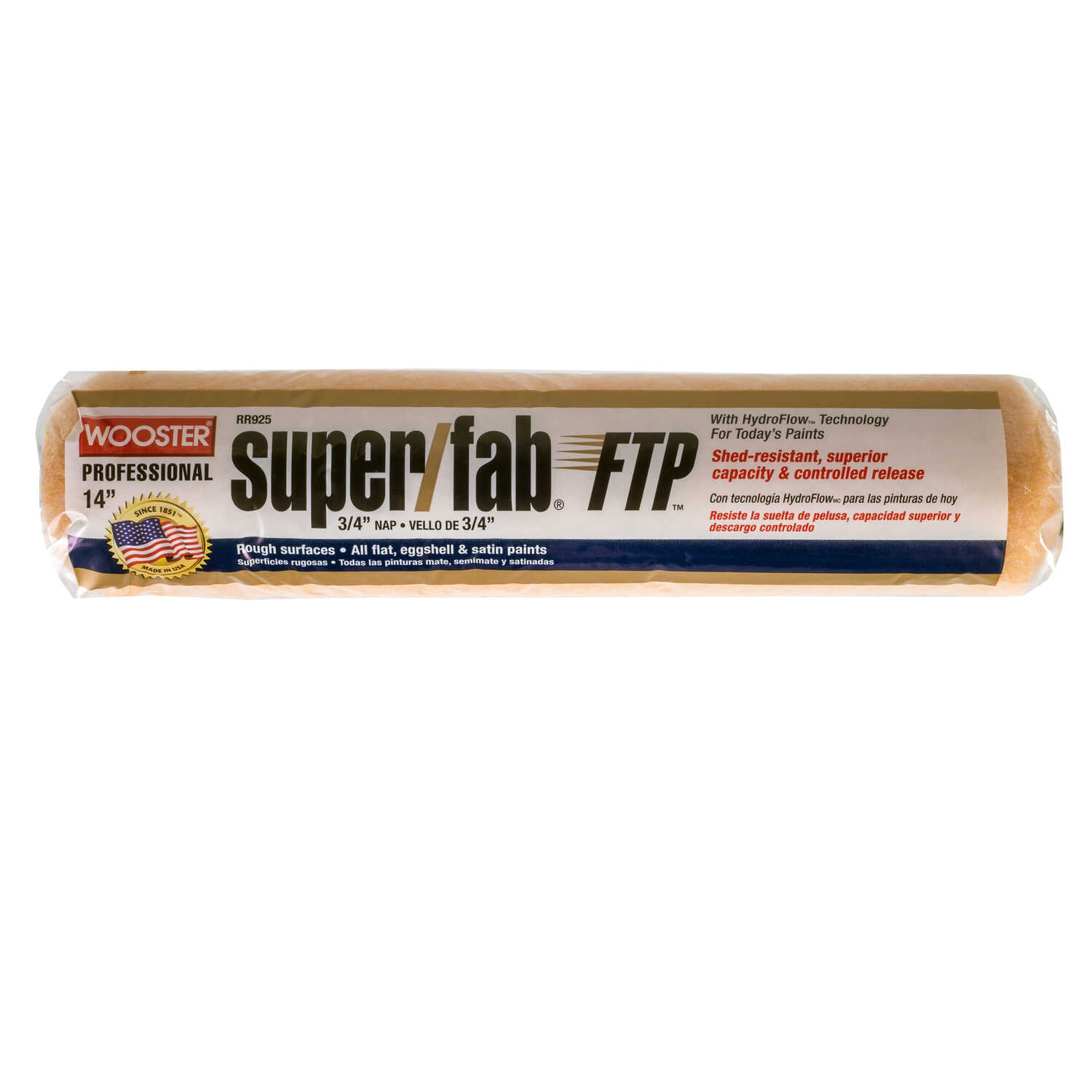 Wooster  Super/Fab FTP  Synthetic Blend  3/4 in.  x 14 in. W Paint Roller Cover  1 pk