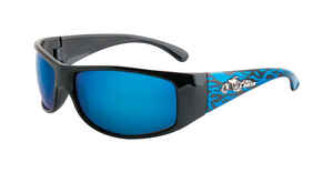 Piranha  U.S. Biker  Black/Blue  Sunglasses