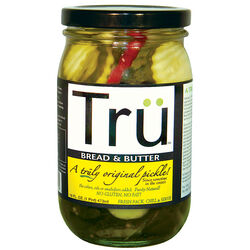 Tru Pickles  Bread and Butter  Pickles  16 oz. Jar