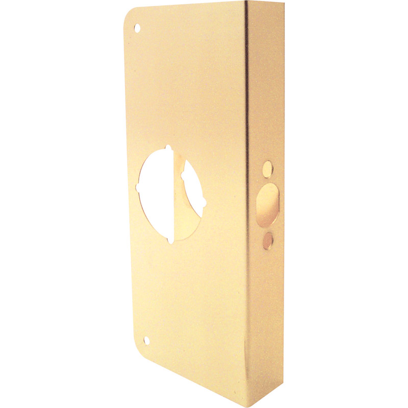 Prime-Line Lock and Door Reinforcer Entry 2.25 in. 9 in. x 4.31 in. x 1.75 in. Brass Solid Brass Use