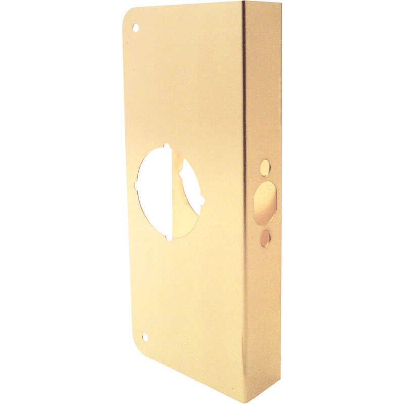Prime-Line  9 in. H x 4.31 in. L Brass-Plated  Brass  Lock and Door Reinforcer