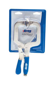 Kreg  1 in.  Metal  Face Clamp  Silver