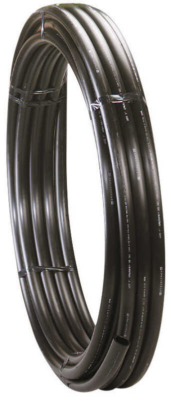 Centennial Plastics  1-1/4 in. Dia. x 100 ft. L Polyethylene  Pipe  80 psi