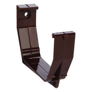 Raingo  5  L x 5 in. W x 5 in. H Gutter Bracket  Vinyl  Brown