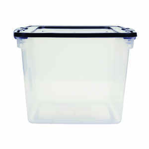 Homz  Latching  12-1/8 in. H x 13 in. W x 13 in. D Stackable Storage Box