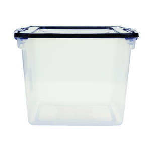Homz  Latching  12-1/8 in. H x 13 in. W x 13 in. D Storage Box  Stackable