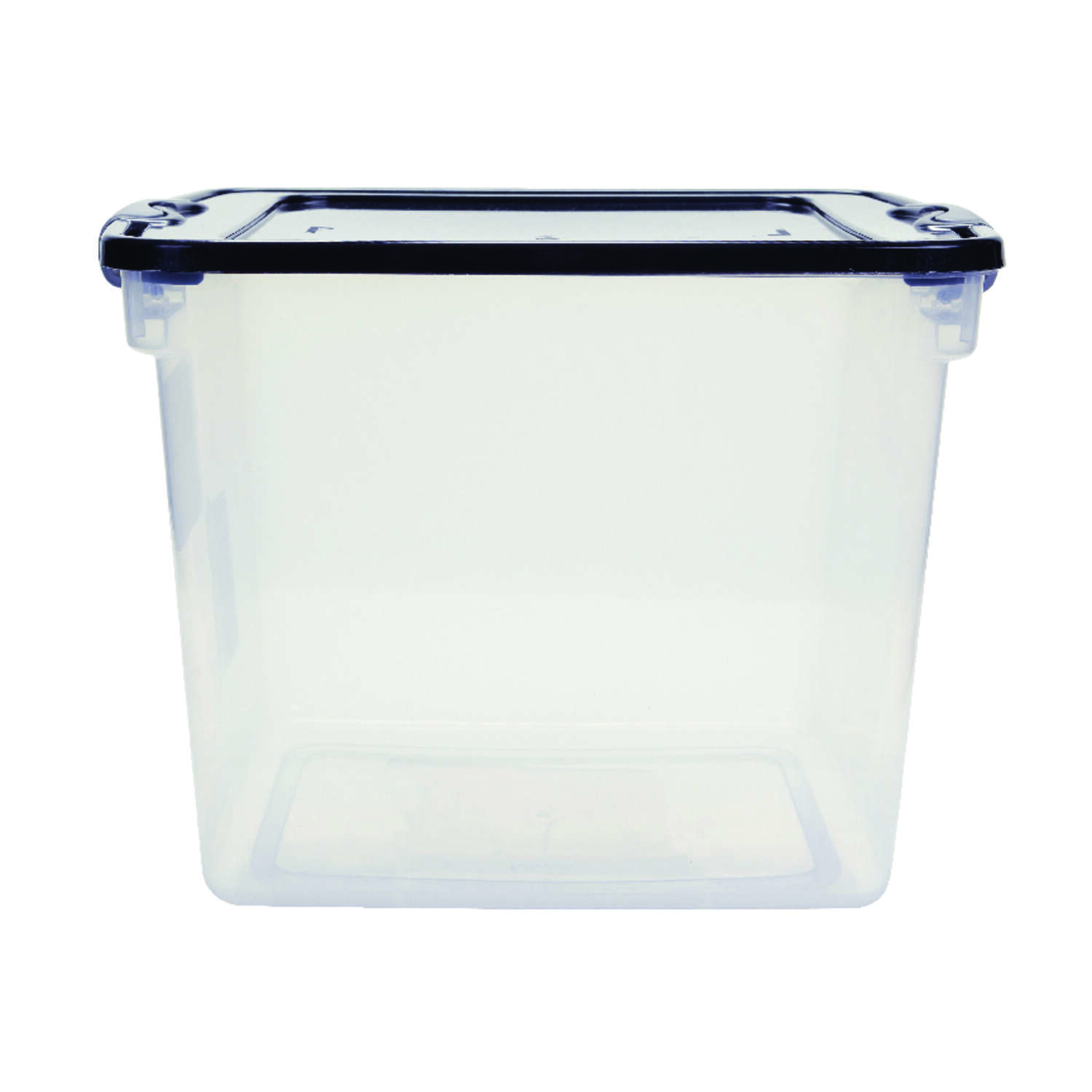 Homz  Latching  12-1/8 in. H x 13 in. W x 16-1/4 in. D Stackable Storage Box