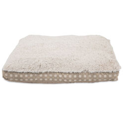 Petmate  Brown/Tan  Gusset  Micro Suede/Polyester  Pet Bed  4 in. H x 27.0 in. W x 36.0 in. L