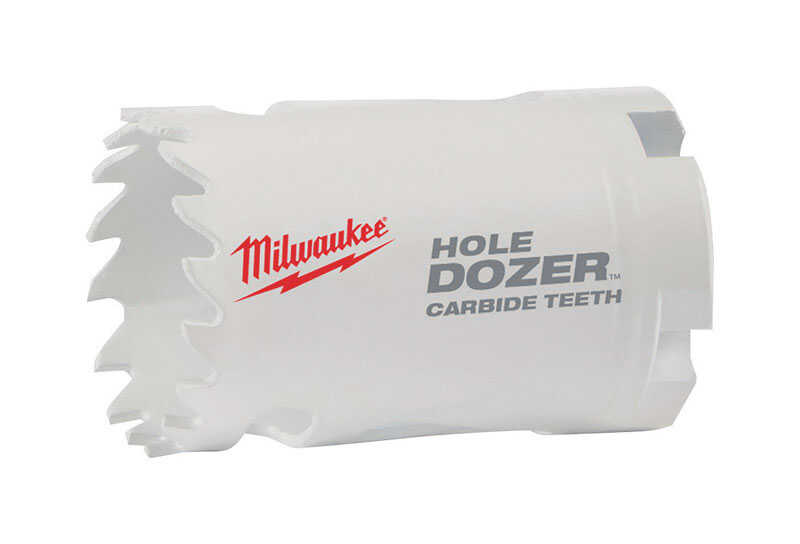 Milwaukee  Hole Dozer  1-3/4 in. Dia. x 1-7/8 in. L Carbide Tipped  Hole Saw  1/4 in. 1 pc.