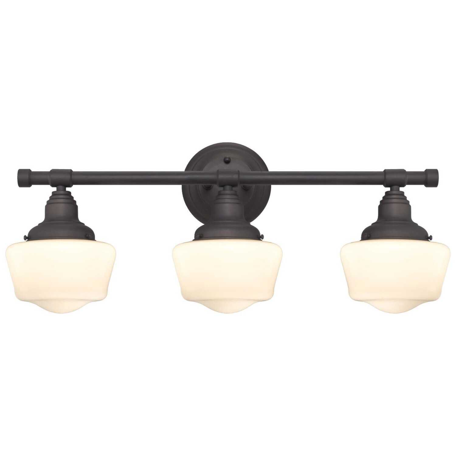 Westinghouse  Oil Rubbed Bronze  White  Wall Sconce  3