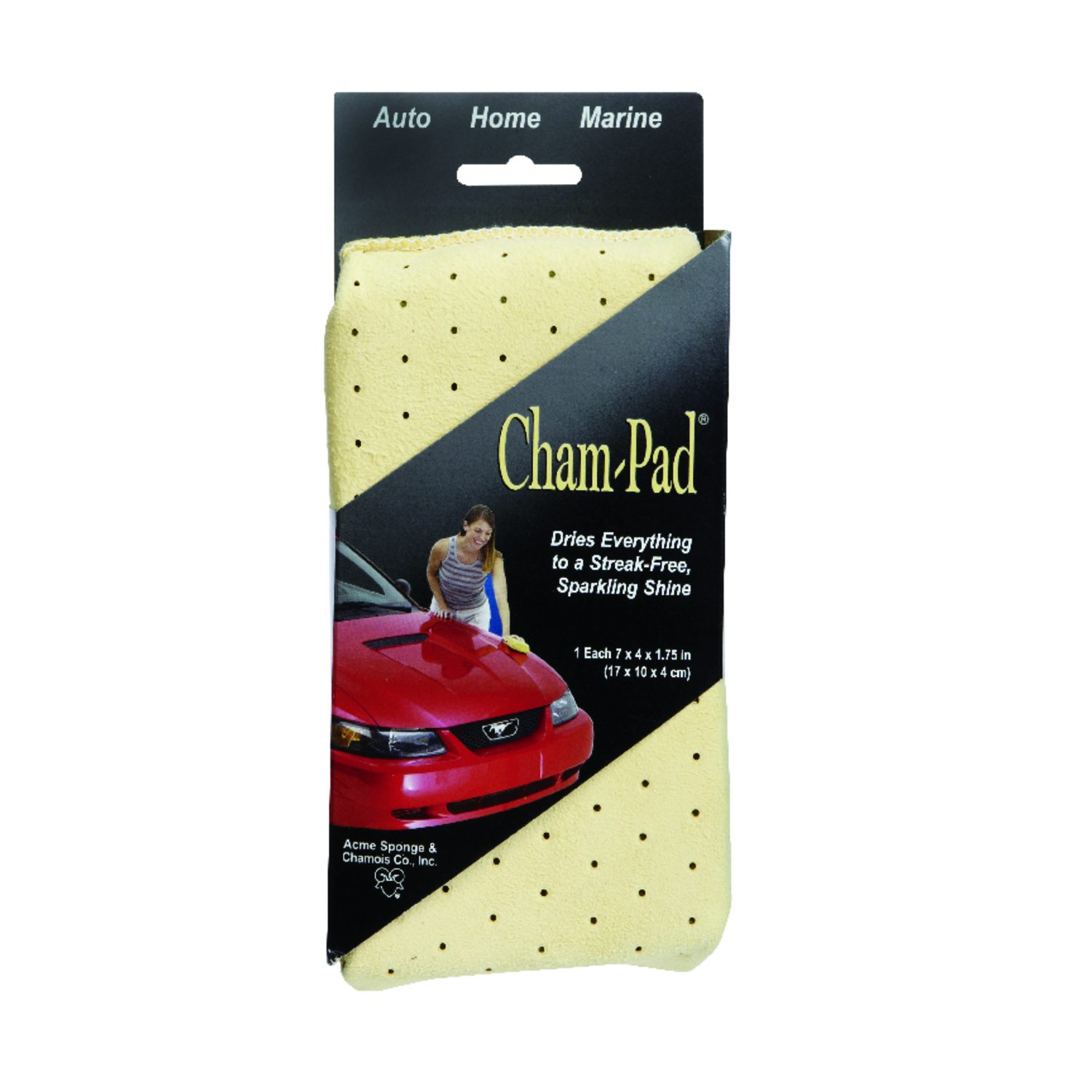 Acme  Cham-Pad  Medium Duty  Sponge  7 in. L 1 pk
