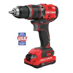 Craftsman  20 volt 1/2 in. Brushless  Cordless Hammer Drill  Kit (Battery & Charger)
