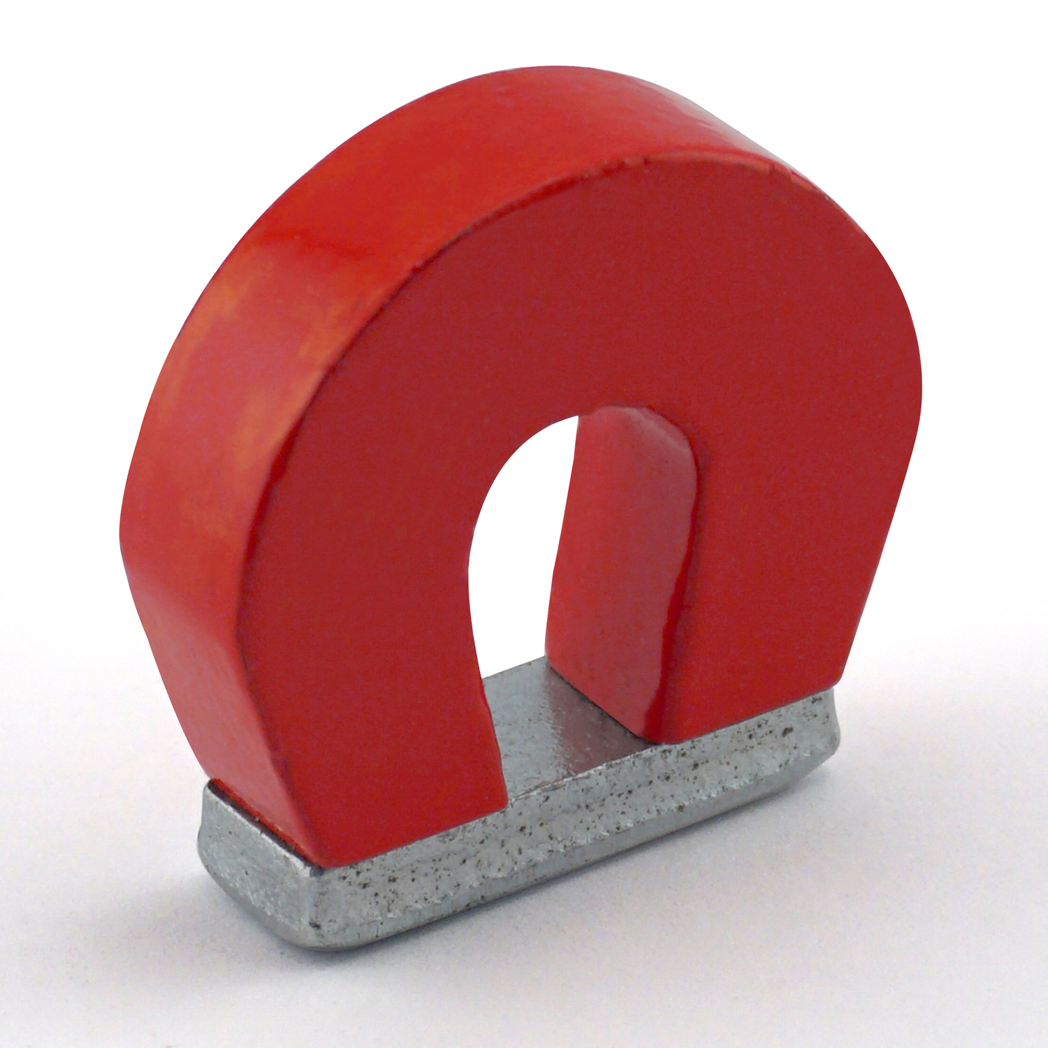 Master Magnetics  The Magnet Source  1 in. Alnico  Horseshoe Magnet  2 lb. pull 5.5 MGOe Red  1 pc.