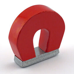 Master Magnetics  1 in. Alnico  Horseshoe Magnet  2 lb. pull 5.5 MGOe Red  1 pc.