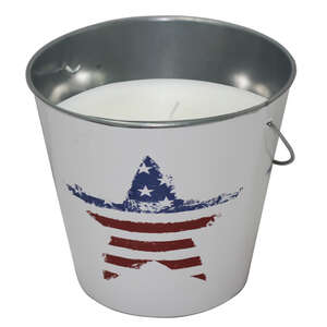 Patio Essentials  U.S. Flag  Candle Bucket  Candle  For Mosquitoes/Other Flying Insects 18 oz.