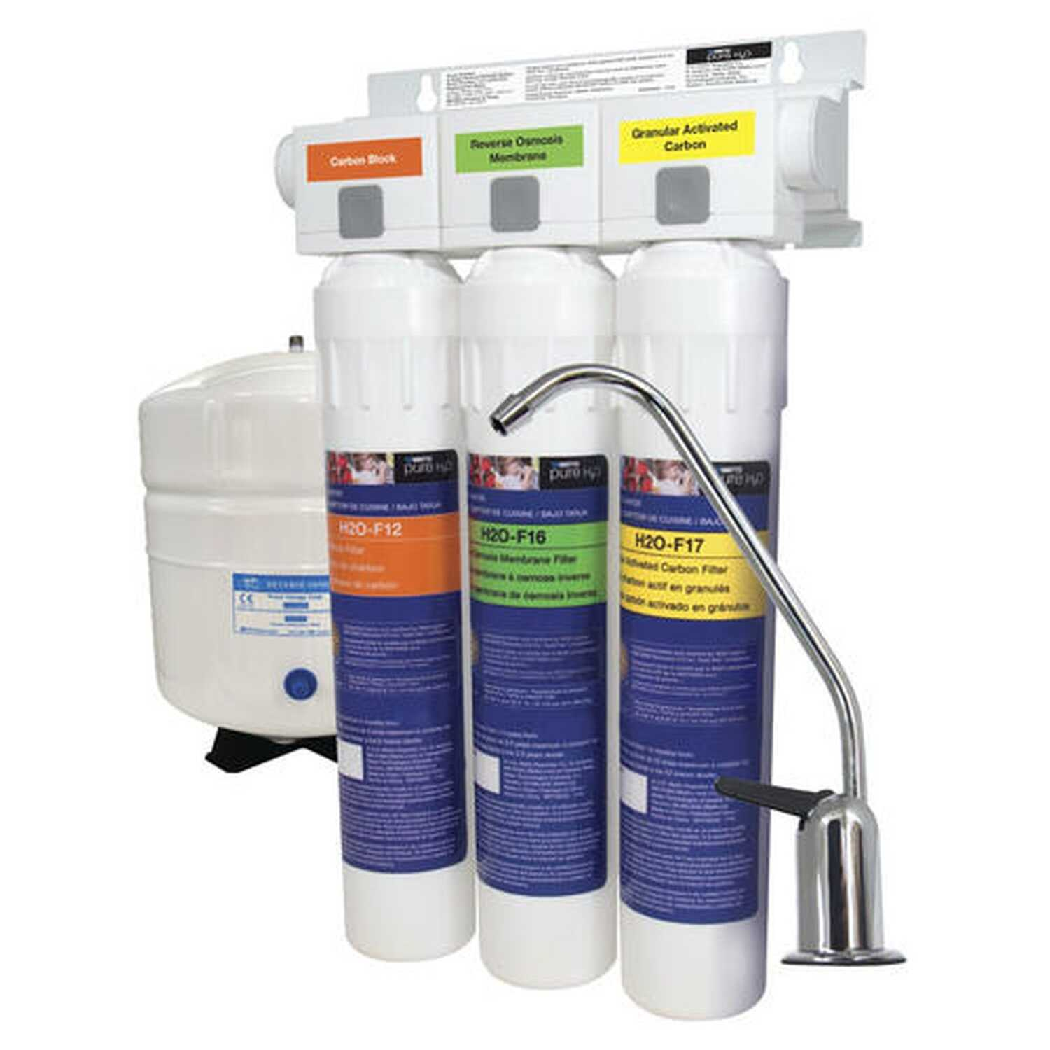 Watts  Stage 3  Reverse Osmosis Water Filter System  For Under Sink 3 gal.