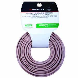 Monster Cable  Just Hook It Up  100 ft. L Ivory  Telephone Station Wire