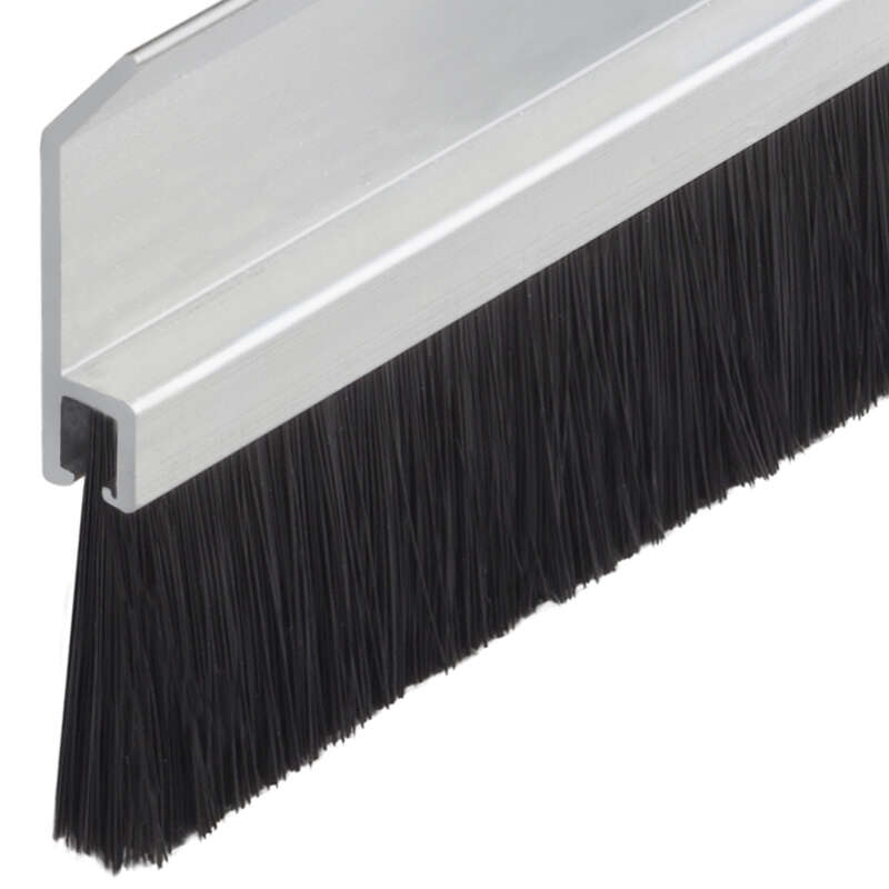 M-D Building Products  Silver/Brown  Vinyl  Brush Sweep  For Door Bottom 2-1/4 in. thick  x 36 in. L