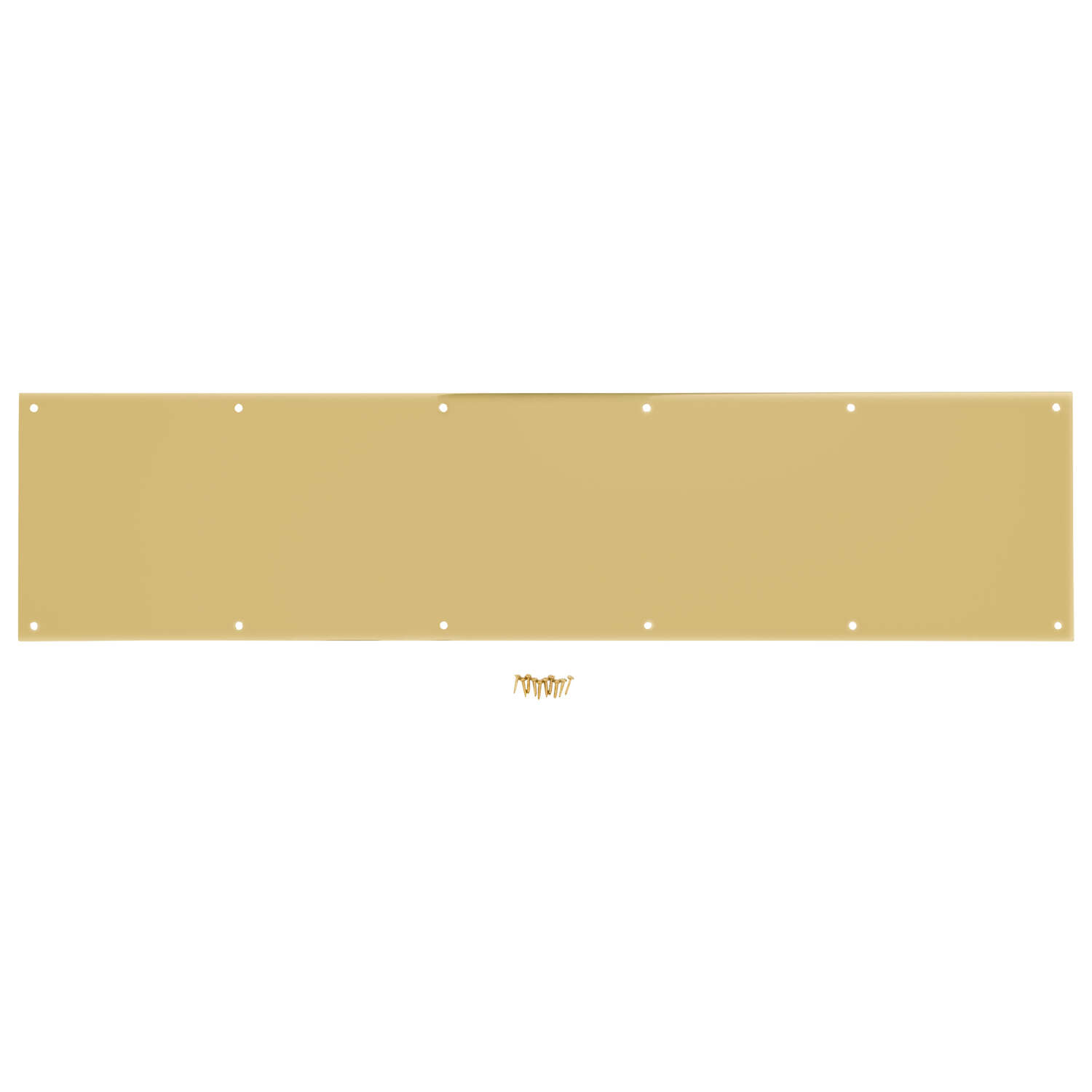 National Hardware  8 in. H x 34 in. L Bright Brass  Aluminum  Kickplate