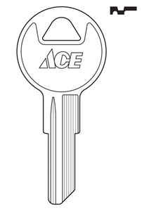 Ace  House/Office  Key Blank  Single sided For Ilco Locks