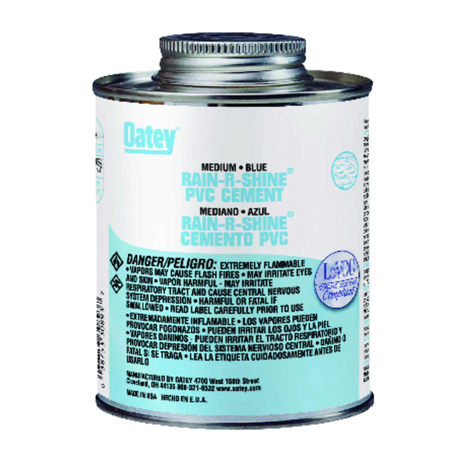 Oatey Rain-R-Shine Blue Cement For PVC 32 oz  - Ace Hardware