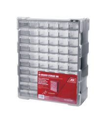 Ace  6-1/4 in. L x 15 in. W x 19 in. H Storage Organizer  Plastic  60 compartments Gray