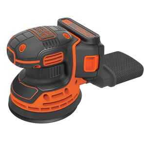 Black and Decker  5 in. Cordless  Random Orbit Sander  20 volt 12000 opm Orange