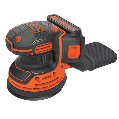 Black and Decker  5 in. Cordless  Random Orbit Sander  Bare Tool  20 volt 12000 opm Orange