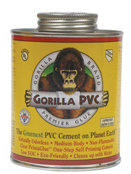 Gorilla PVC  PrimaGlue  Clear  Primer and Cement  For PVC 32 oz.