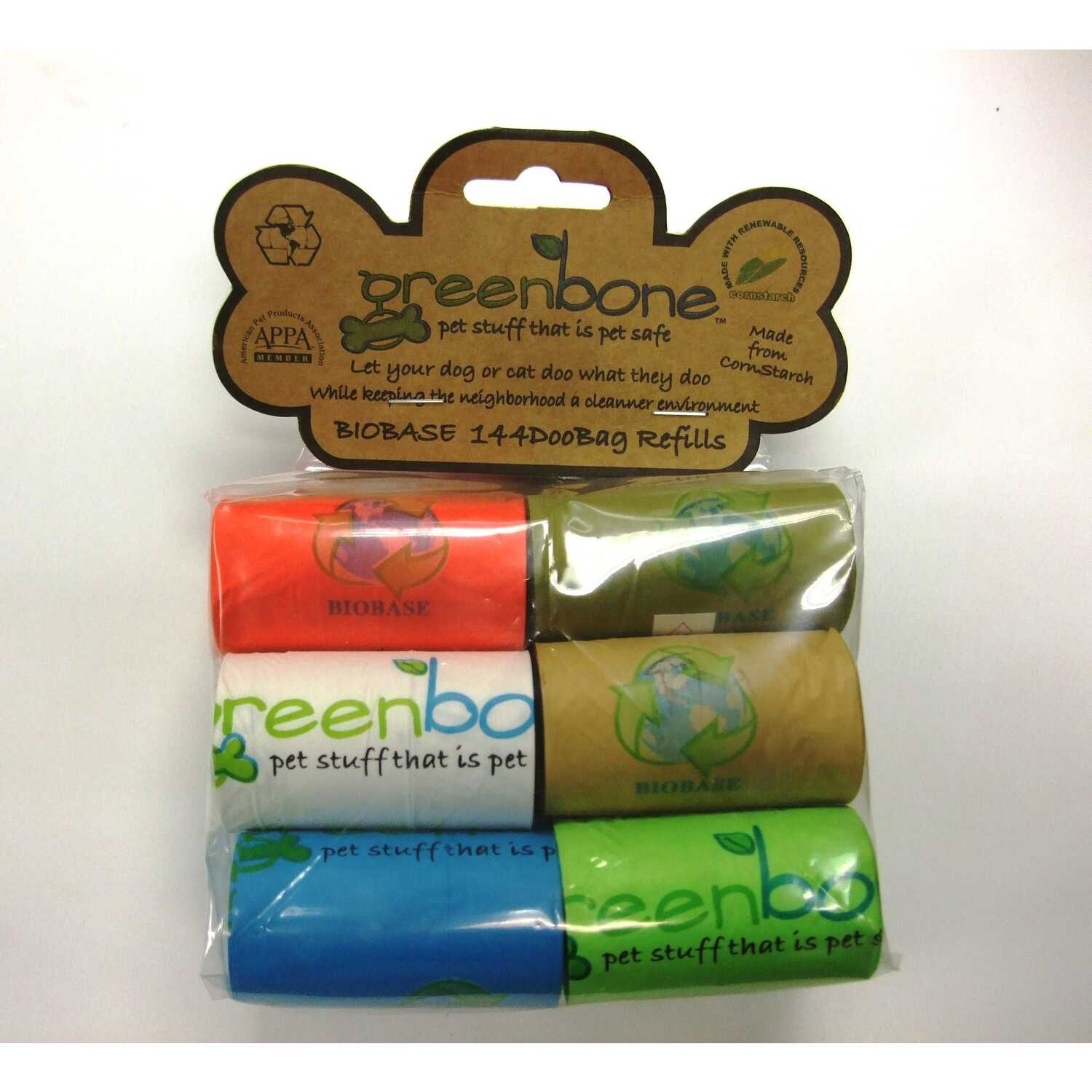 Greenbone  Plastic  144  Disposable Pet Waste Bags