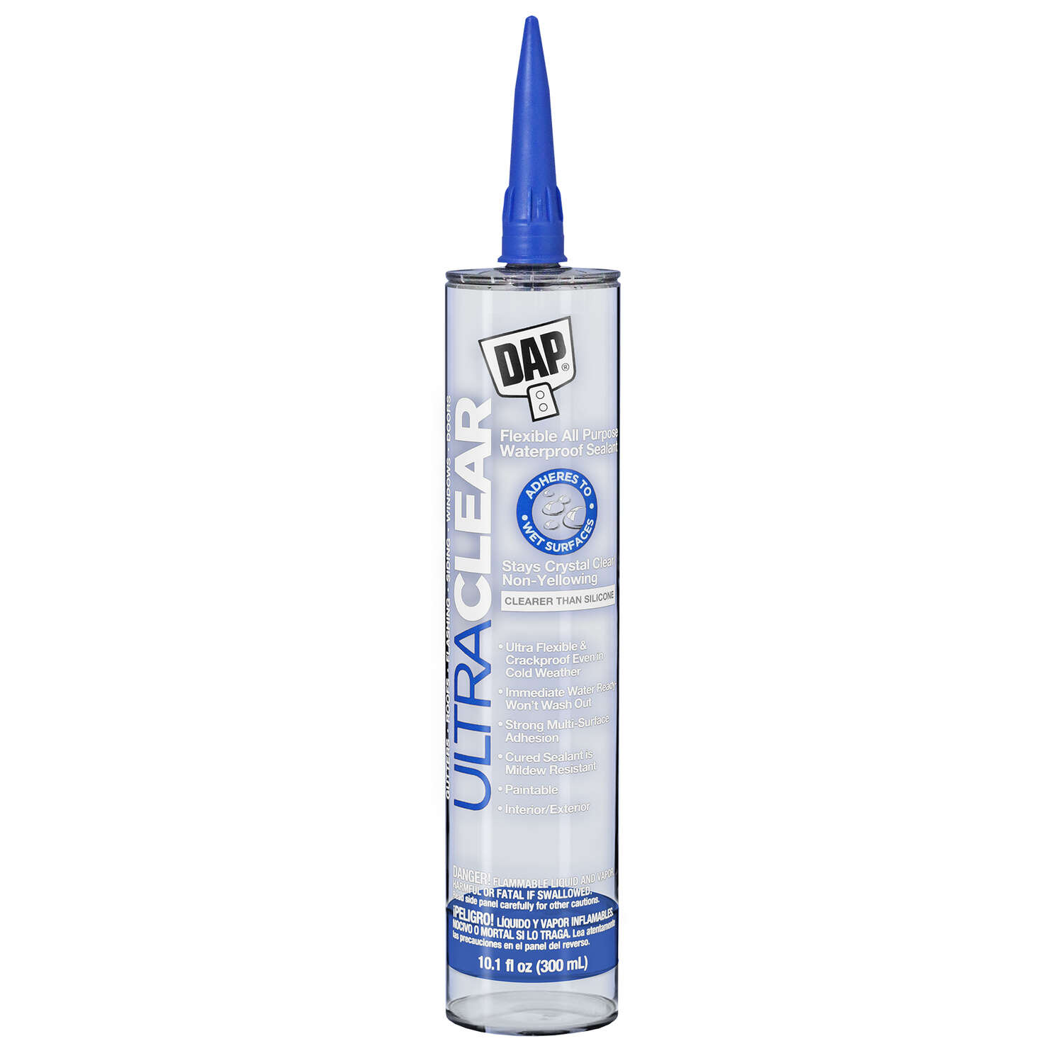 DAP  Ultra Clear  Clear  Synthetic Rubber  All Purpose  Waterproof Sealant  10.1 oz.