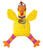 Fat Cat  Multicolored  Suspicious Chicken  Canvas  Dog Toy  Large