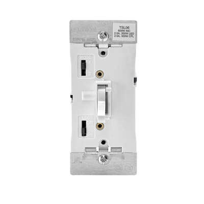 Leviton White 600 watt Toggle Dimmer Switch 1 pk