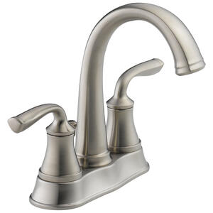 Delta  Lorain  Stainless Steel  Two Handle  Lavatory Faucet  4 in.