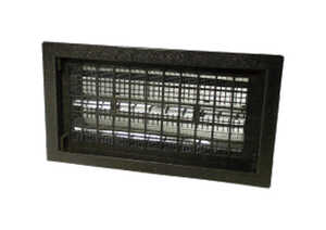 Air Vent  10 in. H x 18 in. W Black  Plastic  Foundation Vent