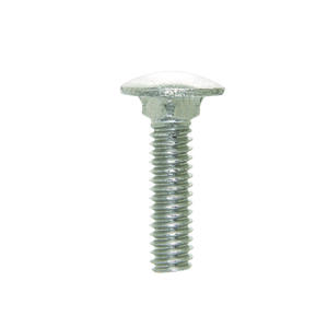 Hillman  1/4 in. Dia. x 1 in. L Stainless Steel  Carriage Bolt  50 pk