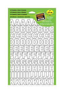 Hy-Ko  1 in. White  Vinyl  Letters and Numbers  0-9, A-Z  Self-Adhesive  1 pk