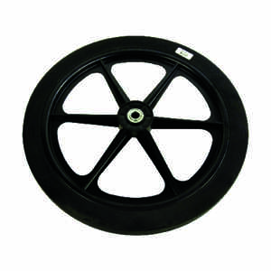 Arnold  20 in. Dia. 150 lb. capacity Centered  Garden Cart Wheel  Rubber